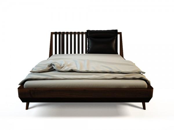 Luna Lederkissen für das Bett The Sun mit Rückenlehne