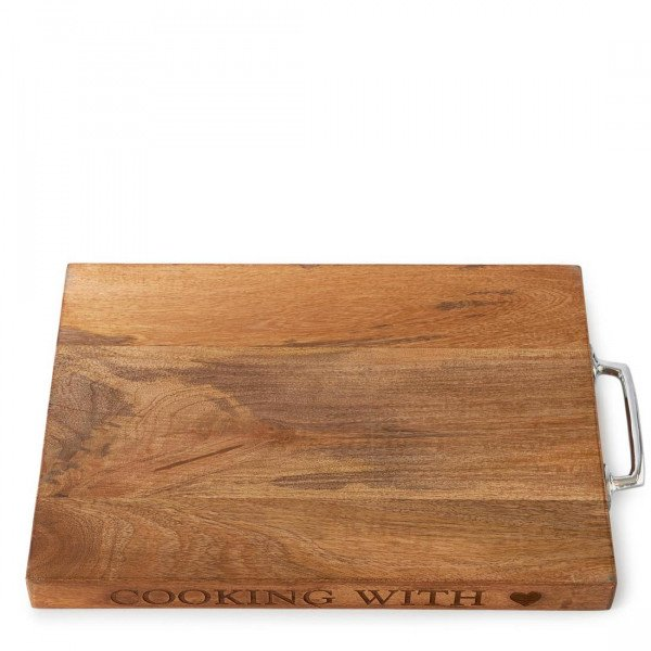 "Rivièra Maison Schneidebrett und Servierbrett ""Cooking with Love Cutting Board"""