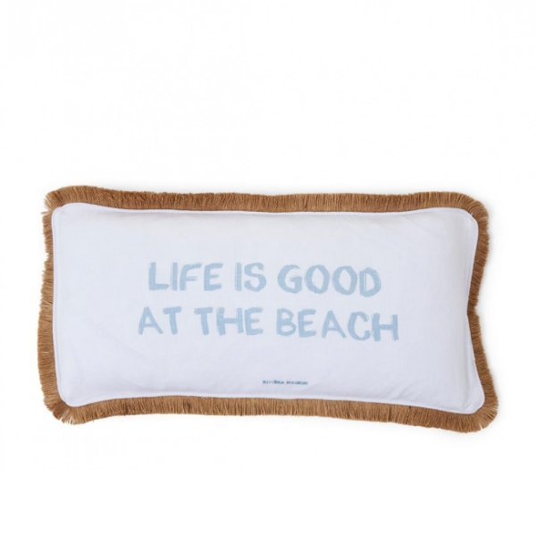 "Rivièra Maison Kissenbezug ""Life is Good at the Beach"" 60 x 30 cm"