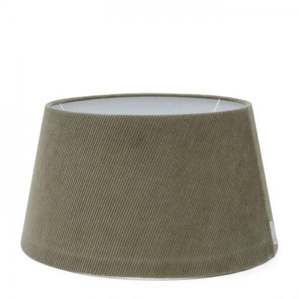 """Rivìèra Maison Lampenschirm """"Lovely Rib Velvet Lampshade grey 35 x 45 cm"""""""