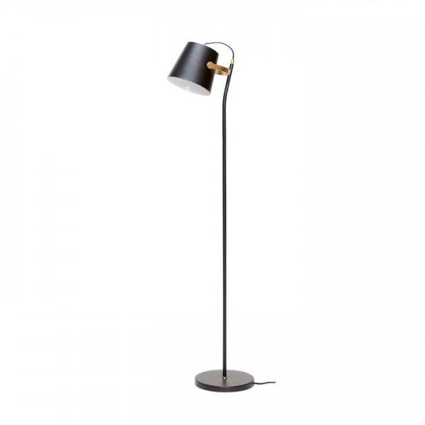 """Hübsch Interior Stehlampe Metall kleiner Schirm """"messing/schwarz"""""""