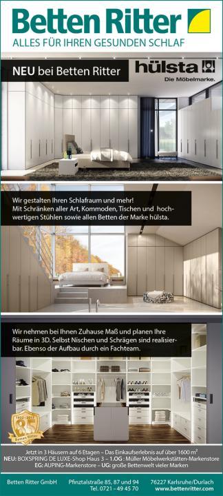 NEU bei Betten Ritter: hülsta. Die Möbelmarke | Betten Ritter Karlsruhe