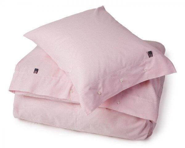 Lexington Bettwäsche | Authentic Pin Point Oxford | rosa-weiß