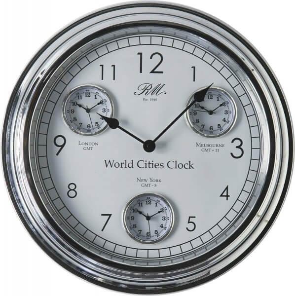"Rivièra Maison Wanduhr ""World Cities Clock"""""
