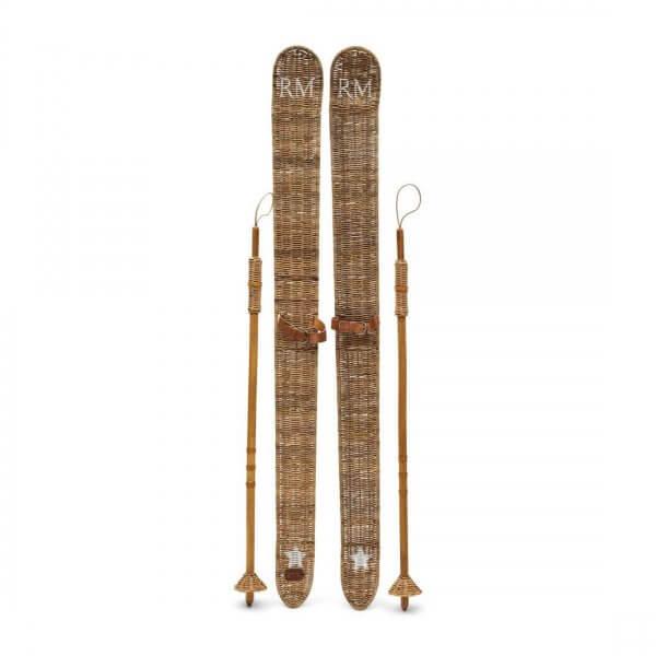 """Rivièra Maison Weihnachtsdekoration """"Rustic Rattan Ski Set"""""""