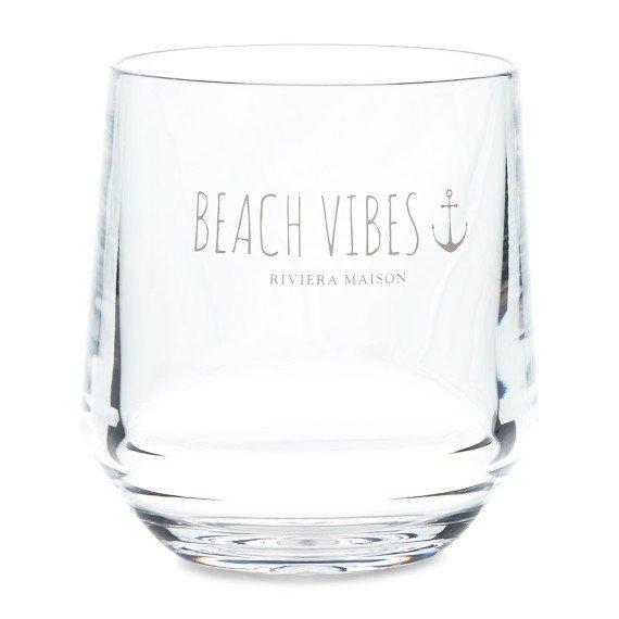 """Rivièra Maison Wasserglas """"Beach Vibes Water Glass"""""""