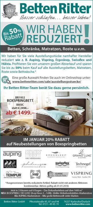 Betten Ritter Karlsruhe tempur aktion betten ritter karlsruhe