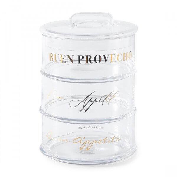 "Rivièra Maison Aufbewahrungsbehälter ""Buon Appetito Pot 3 Parts Gold"""