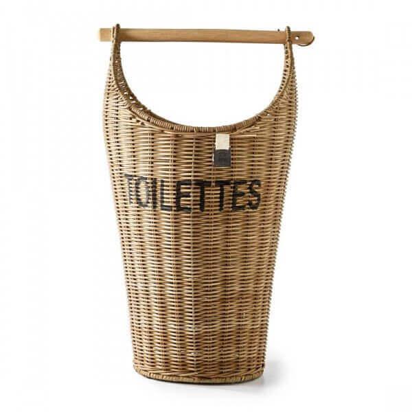 "Rivièra Maison Toilettenpapierkorb ""Rustic Rattan Toilettes Basket"""