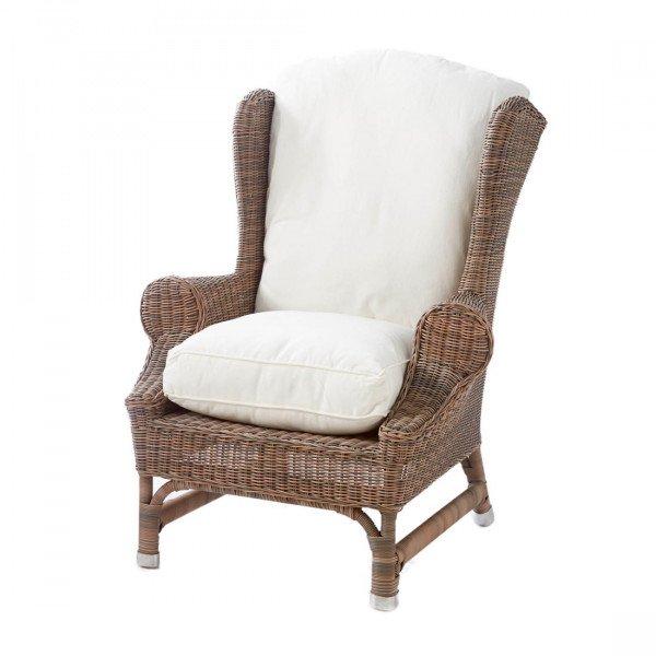 "Rivièra Maison Lehnstuhl/Sessel ""Outdoor Rustic Rattan Nicolas Wing Chair"""